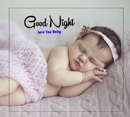 good night cute baby pics