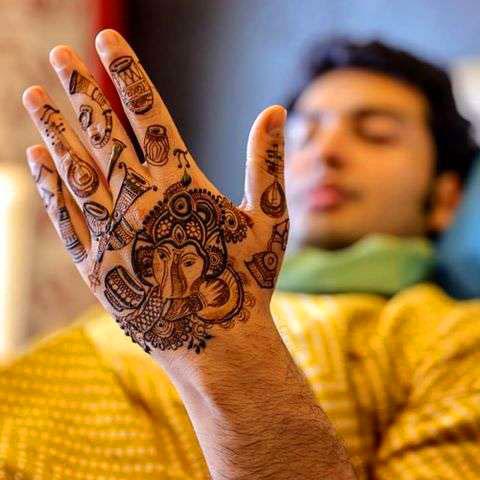 groom Latest Boys Mehndi Images photo hd