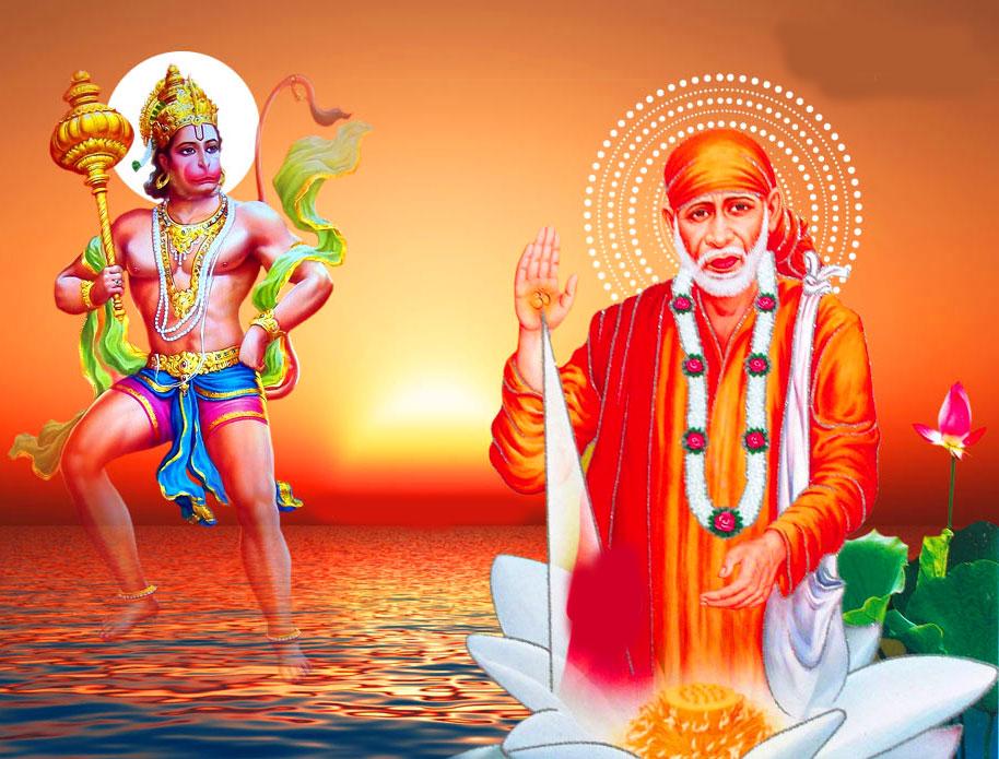 hanuman Sai Baba Blessing Images