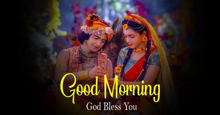 hd 2021 Radha Krishna Good Morning Images