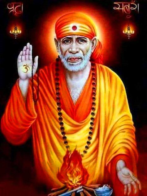 hd Beautiful Sai Baba Blessing Images