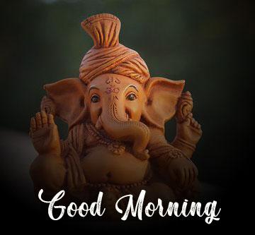 hd New ganesha good morning images pics