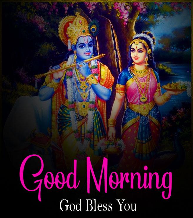 hd Nice Radha Krishna Good Morning Images