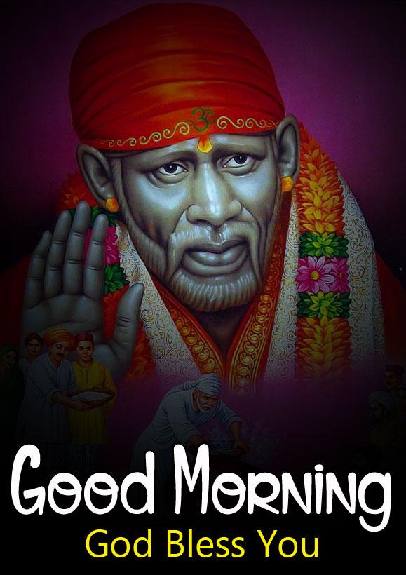 hd photo of Sai Baba Good Morning Images