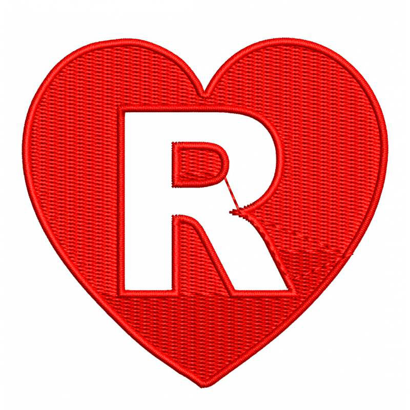 heart Lovely Stylish R Name Dp Images 1
