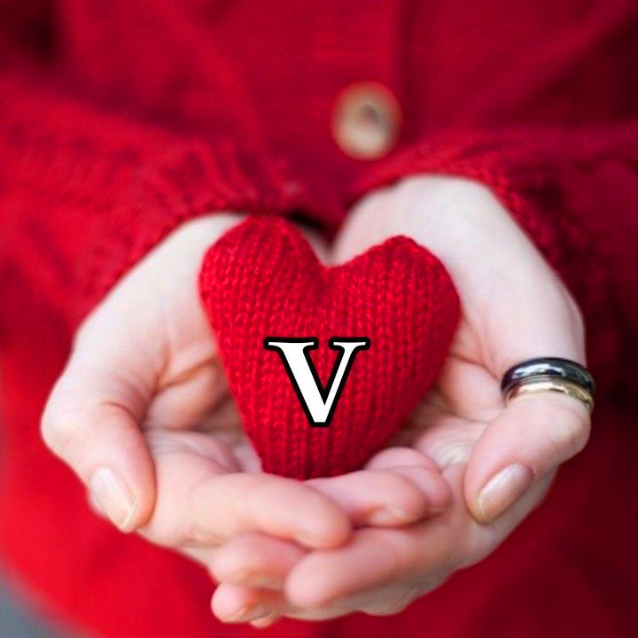 love New V Name Dp Images