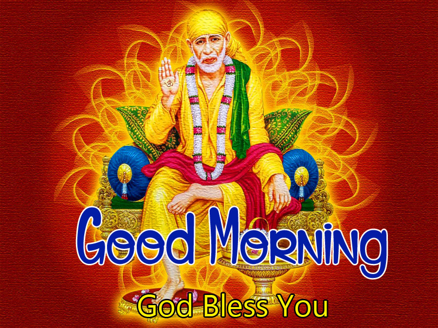 pictures of Sai Baba Good Morning Images