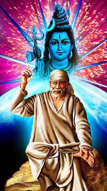 shiva Sai Baba Blessing Images