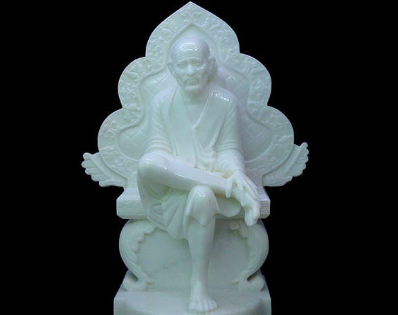 white Beautiful Sai Baba Blessing Images